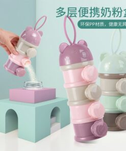 Durable Baby Milk Powder Container 3 Layer Baby Bottle With Powder Compartment Snacks Food Cereal Kids Infants For Travel Purpose - Travelling Milk Powder Dispenser For Mothers Parents - Baby Gifts