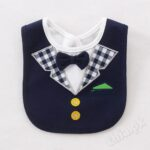 Navy Blue Check Bow