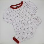 White Red With Multi Dots